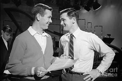 Johnny Carson With His Brother Dick Carson 1963 Art Print