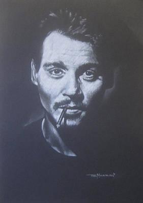 Johnny Depp Drawing - Johnny Depp by Bruce McLachlan