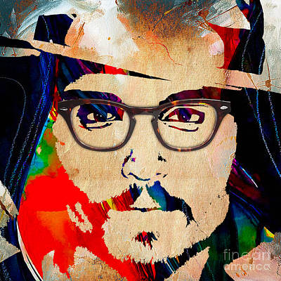 Johnny Depp Collection Art Print by Marvin Blaine