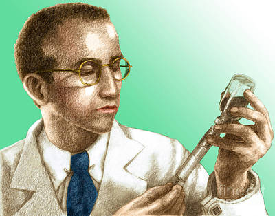 Photograph - Jonas Salk, Microbiologist by Spencer Sutton