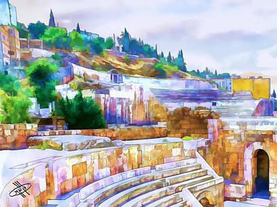 River Jordan Digital Art - Jordan/amman/roman Theater by Fayez Alshrouf