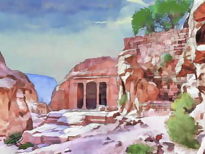 River Jordan Digital Art - Jordan/petra by Fayez Alshrouf