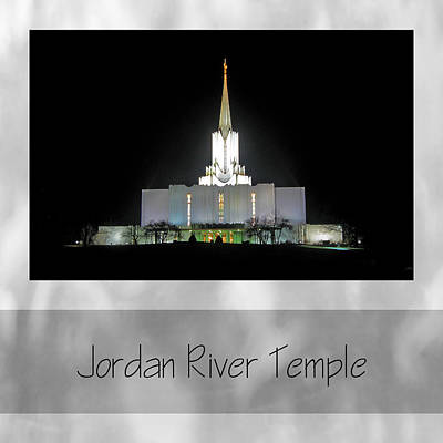 Photograph - Jordan River Temple by VaLon Frandsen