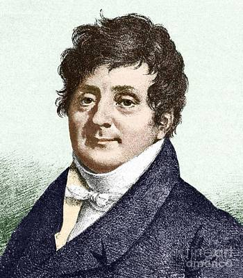 Fourier Photograph - Joseph Fourier, French Mathematician by Sheila Terry
