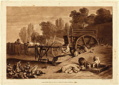 Farmyard Drawing - Joseph Mallord William Turner And Charles Turner by Litz Collection