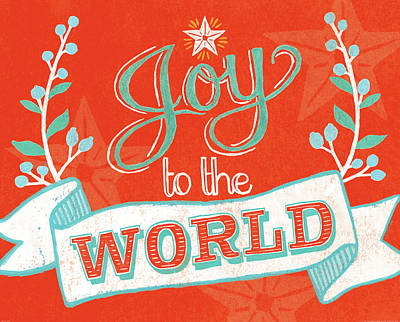 Happy Holidays Painting - Joy To The World by Mary Urban