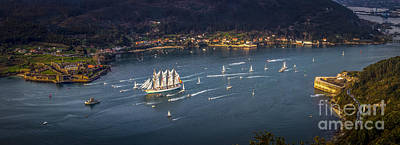 Photograph - Juan Sebastian Elcano Departing The Port Of Ferrol by Pablo Avanzini