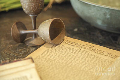 Kiddush Photograph - Judaism Concept  by Chen Leopold