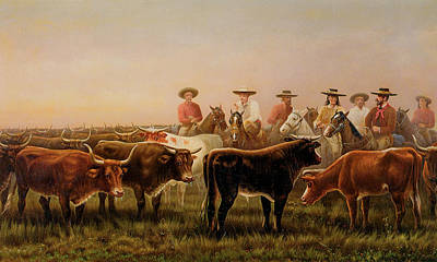 Beautiful Cowboy Art Photograph - Judges Of The Plains by James Walker