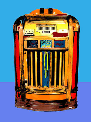 1960 Mixed Media - Juke Box 2 by Dominic Piperata