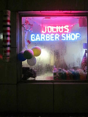 Photograph - Julius' Barber Shop by Guy Ricketts