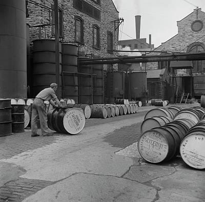 June 1943 - Drums Of Glycerine Ready Art Print by Stocktrek Images