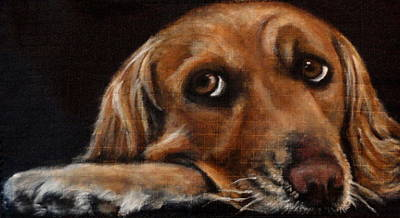 Dog Close-up Painting - June by Carol Russell
