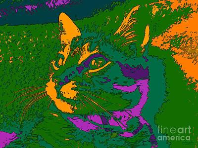 Art Print featuring the digital art Jungle Cat by Hanza Turgul