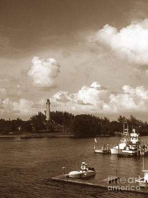 Jupiter Inlet Photograph - Jupiter Inlet Lighthouse by Skip Willits