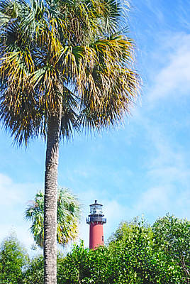 Photograph - Jupiter Lighthouse by Judy Hall-Folde