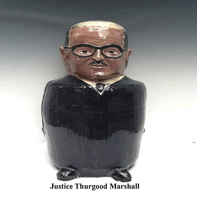 David Mack Sculpture - Justice Thurgood Marshall by David Mack
