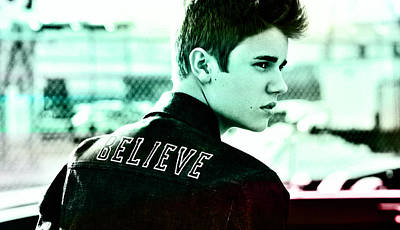Justin Bieber  Art Print by Marvin Blaine
