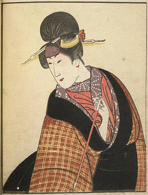Actor Photograph - Kabuki Actor In Female Role by British Library