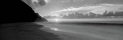 Kalalau Beach Sunset, Na Pali Coast Art Print by Panoramic Images