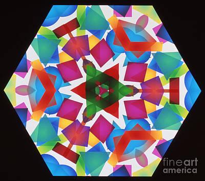 Electromagnetic Spectrum Photograph - Kaleidoscope by Alfred Pasieka