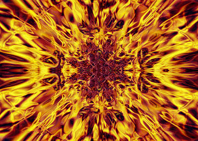 Fireworks - Kaleidoscope Fire by Steve Ball