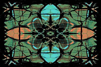 Digital Art - Kaleidoscope Flower 4 by Steve Ball
