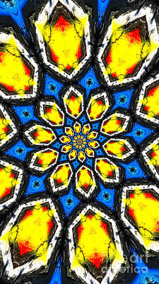 Kaleidoscope Of Primary Colors Art Print