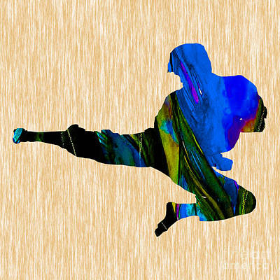 Action Sports Art Mixed Media - Karate by Marvin Blaine