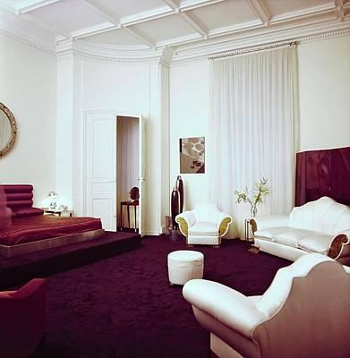 Photograph - Karl Lagerfeld's Bedroom by Horst P. Horst