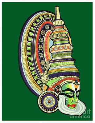 Kathakali Painting - Kathakali by Santi  Arts