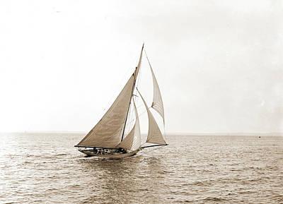 Kathleen Drawing - Kathleen, Atlantic Yacht Club, Kathleen Yacht by Litz Collection