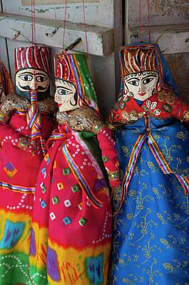 Marionettes Photograph - Kathputli, Traditional Rajasthani by Inger Hogstrom