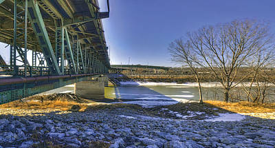 Photograph - Kaw River In Winter by Don Wolf