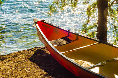 Kayak By The Water Art Print by Alex Grichenko