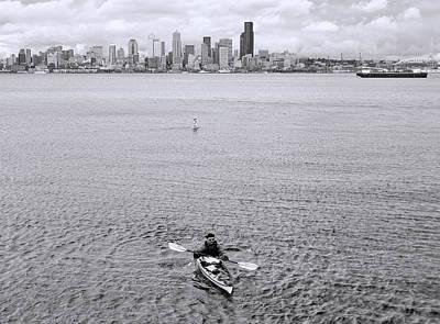 Photograph - Kayaking Elliot Bay by Allen Beatty