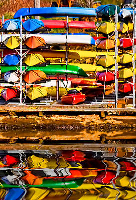 Photograph - Kayaks At Rest by Dale Stillman