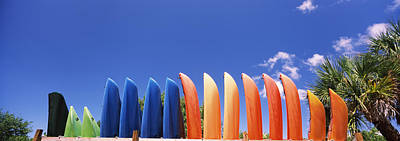 For Rent Photograph - Kayaks, Gulf Of Mexico, Florida, Usa by Panoramic Images