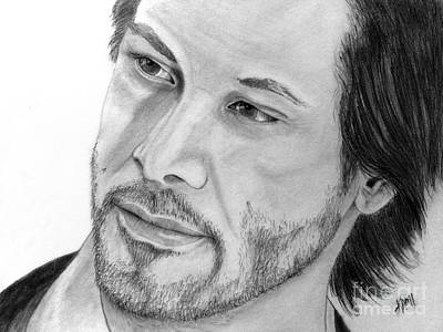 Drawing - Keanu Reeves by Kami Catherman