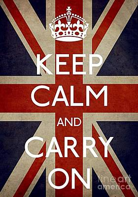 Keep Calm And Carry On Photograph - Keep Calm And Carry On by Daryl Macintyre