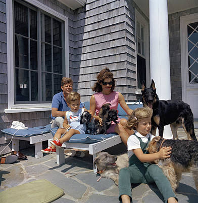 Irish Wolfhound Photograph - Kennedy Family, 1963 by Granger