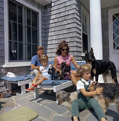 German Shephard Photograph - Kennedy Family, 1963 by Granger