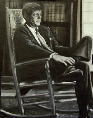 Painting - Kennedy In His Rocking Chair by Martha Suhocke