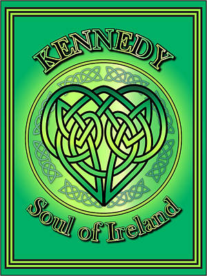 Kennedy Soul Of Ireland Art Print