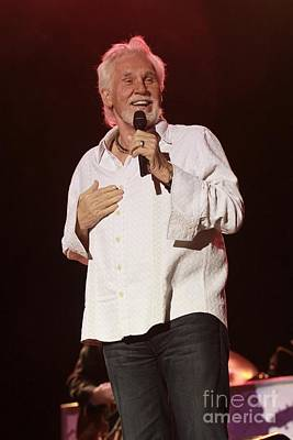Kenny Rogers Art Print by Concert Photos