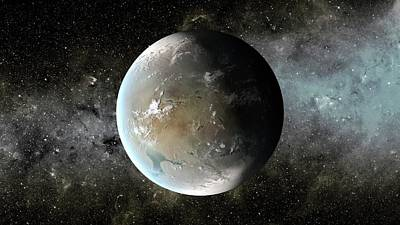 Goldilocks Photograph - Kepler-62f by Nasa/ames/jpl-caltech