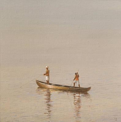 Kerala Fishermen Art Print by Lincoln Seligman