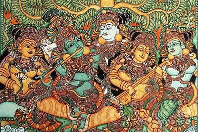 Kerala mural paintings fine art america for Asha mural painting