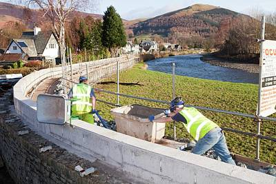 Floods Photograph - Keswick Flood Defences by Ashley Cooper