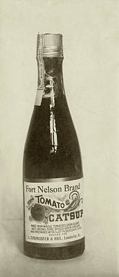 Black Commerce Photograph - Ketchup Bottle by Us National Archives